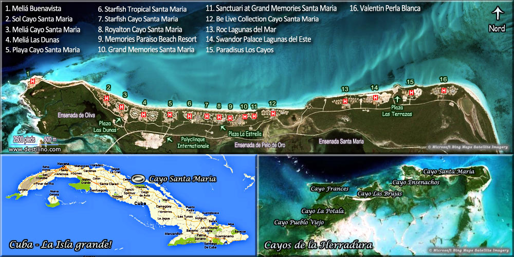 Cayo santa maria cuba le guide le plus complet for Site location hotel